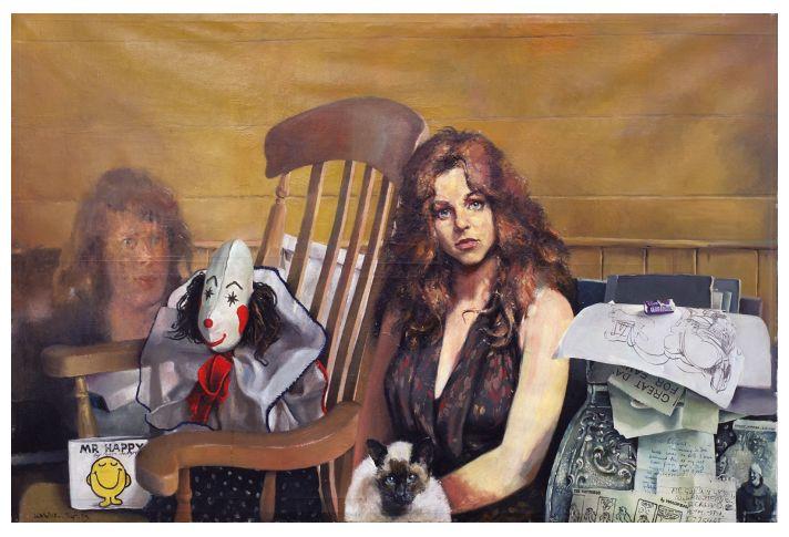 Belle Pecorini with rag doll