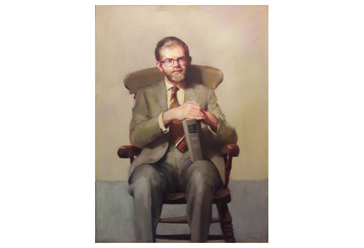 R O Lenkiewicz PORTRAIT OF JOHN WRIGHT MA, AREA EDUCATION OFFICER