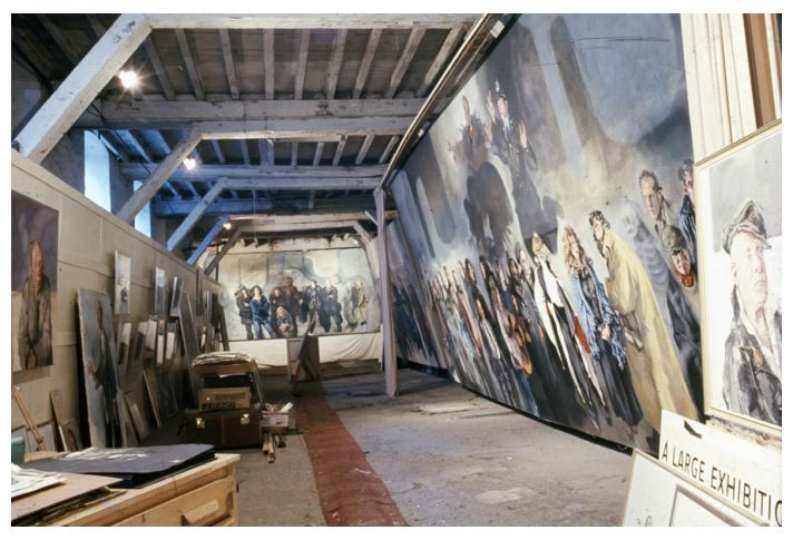 View of 'Jacob's Ladder' studio during the Vagrancy exhibition, 1973.