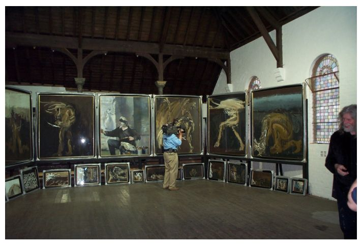 The Blind Tobit pictures unveiled at The Mission Hall, 2000.