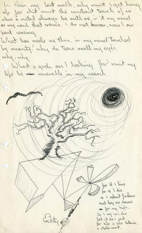 item 11 poem & illustrations 330 x 205 mm ink on paper
