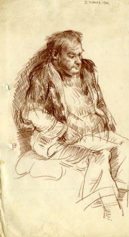 item 124 J. TUBRIDY. 1966 335 x 185 mm. pencil on paper