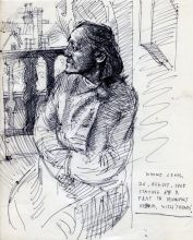 WINNIE LEWIS. 26 AUG 1968 255 x 205 mm. pen on paper