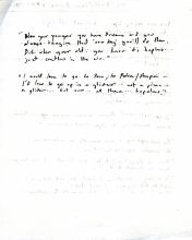 Notes of an interview with Kathleen Binns in 1984