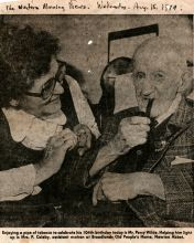 Elderly man featured in Western Morning News August 15, 1979